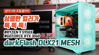 상큼한 컬러가 톡 톡 톡! - darkFlash DLX21 RGB MESH 강화유리 네오민트