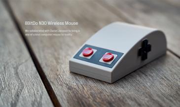 레트로 게임기 NES 디자인의 8BitDo N30 무선 마우스