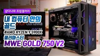 내 컴퓨터 안의 골드 - 쿨러마스터 MWE GOLD 750 V2 FULL MODULAR