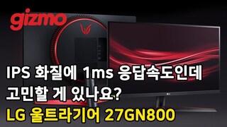 IPS 화질에 1ms 응답속도인데 고민할 게 있나요? LG 울트라기어 게이밍 모니터 27GN800