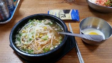 [먹거리 소개# 216] 전주 한옥마을 인근에서 아침에 속을 따끈하게 채워준 콩나물국밥