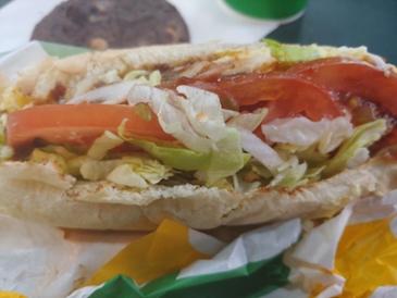 오늘의 점심 - 서브웨이 풀드포크 샌드위치+쿠키세트 (7600원)