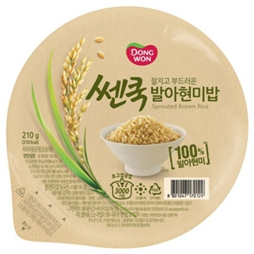 3,960원 내린 동원F&B 쎈쿡 발아현미밥 210g (36개) [급락뉴스]