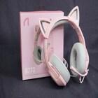 NEW  핑크 고양이 귀 헤드셋 등장, ABKO 가상 7.1 진동 게이밍 헤드셋 B772