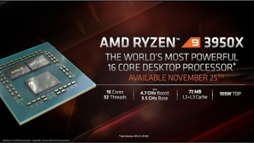 16코어 라이젠 9 3950X 3세대 스레드리퍼를 공개한 AMD