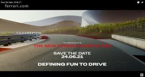 페라리, 새로운 V6 하이브리드 슈퍼카 오는 24일 글로벌 공개