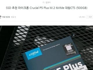 SSD 추천 마이크론 Crucial P5 Plus M.2 NVMe 대원CTS (500GB)