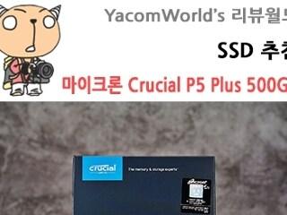 SSD 추천 마이크론 Crucial P5 Plus M.2 NVMe 대원씨티에스 PCIe4.0 500GB 리뷰