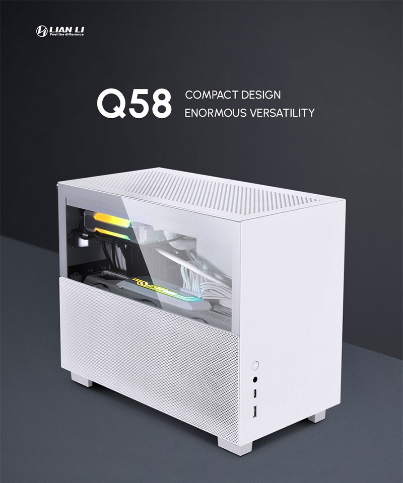 서린씨앤아이, 리안리의 스몰 폼팩터 PC케이스 Q58 정식 출시