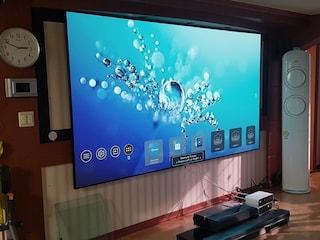 옵토마 초단초점 4K 프로젝터 P1 설치와 샤오미 WEMAX PRO ONE와의 1:1 비교투사 테스트
