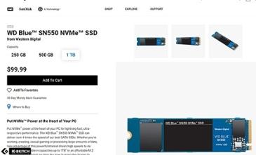 블프 가격이 정상 가격? WD, 속도 높이고 1TB 투입한 NVMe SSD 출시