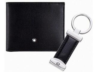 [명품 특가] 몽블랑 반지갑+키링 선물 세트 42% 할인!