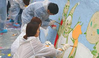 2015 벽화 그리기 활동 썸네일 이미지