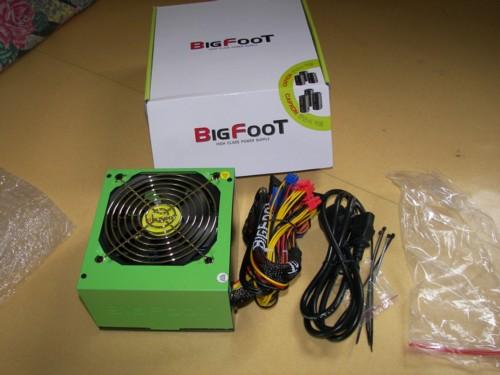 빅빔 BIGFOOT H450G V2.2 파워와 내용물입니다.