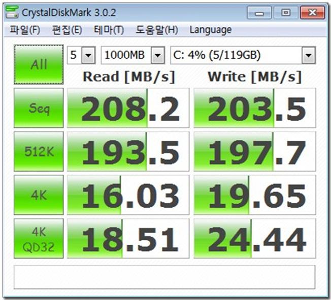 22 크리스탈디스크마크 기본값 테스트-ssd.jpg