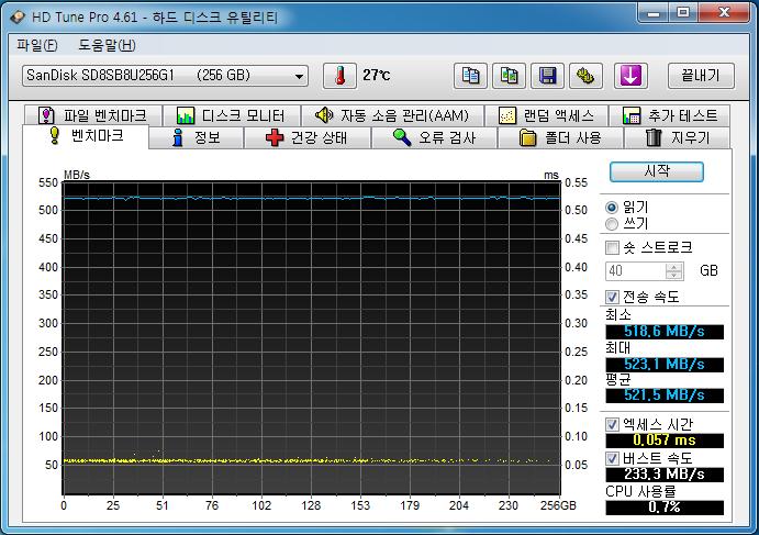 샌디_X400_256GB_HD Tune-01.PNG