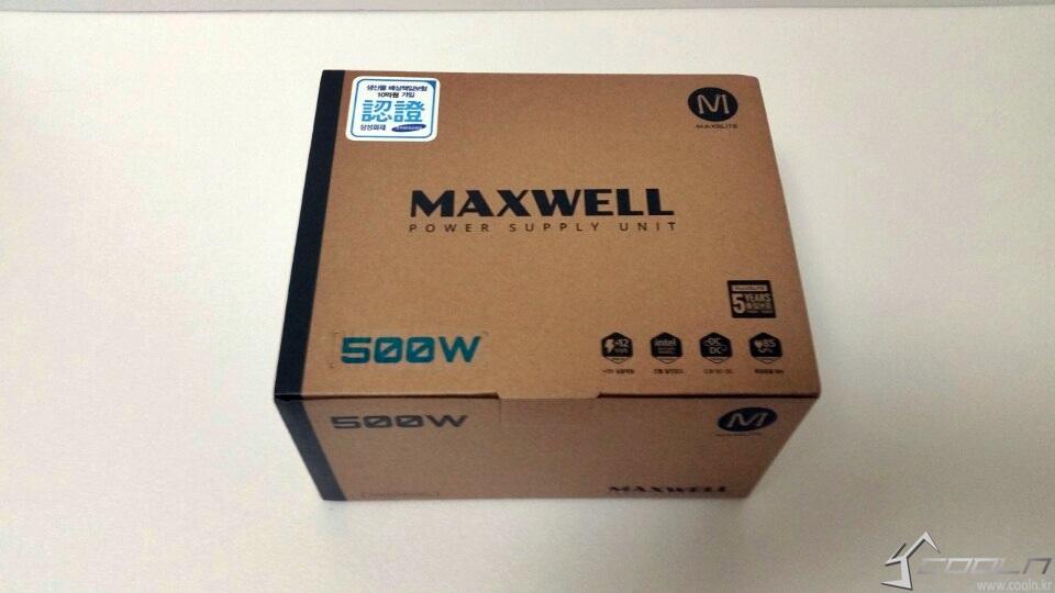 보급형 파워시장에 새로운 시작! MAXELITE MAXWELL 500W -   CHAcom