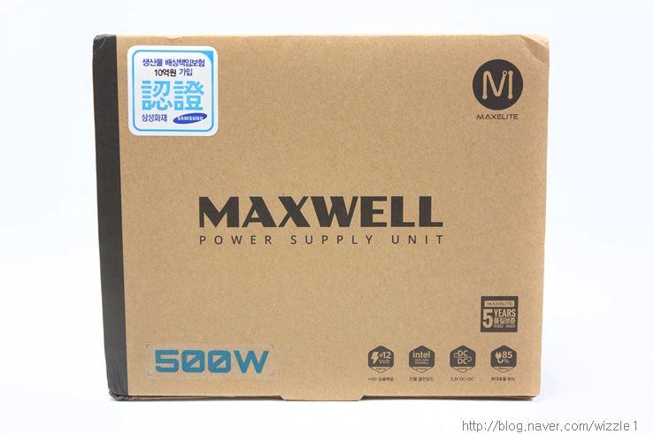 MAXELITE MAXWELL 500W 파워서플라이 리뷰 - 직각설리