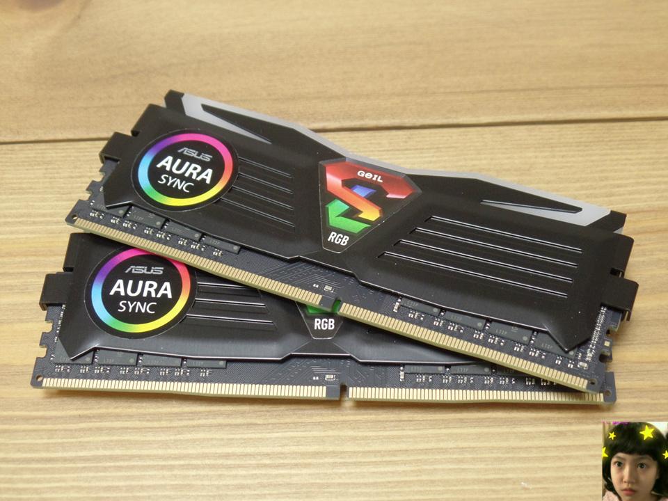 GEIL DDR4 8G PC4-19200 CL17 SUPER LUCE RGB Sync 블랙 필드테스트