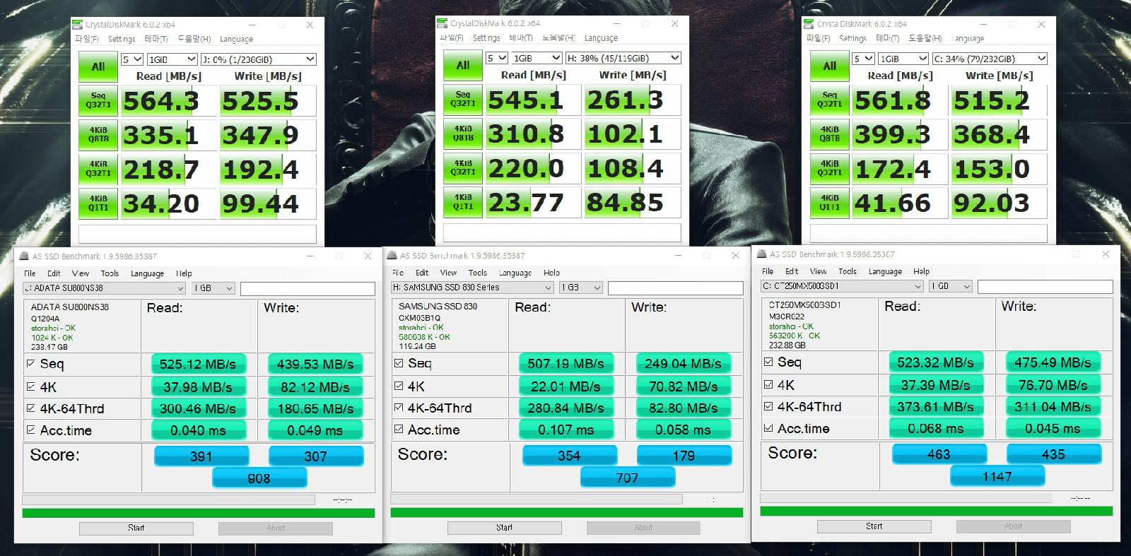 ADATA SU800 M 2 2280 256GB SSD 언박싱부터 장착 그리고 벤치마크까지