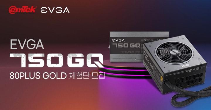EVGA 750 GQ 80PLUS GOLD 파워 체험단