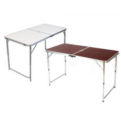 [55%▼] 3단 높이조절 실버/우드 색상 캠핑 테이블