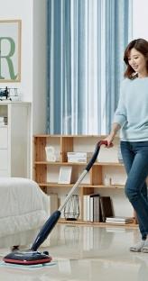 실내 미세먼지엔 물걸레 청소기가 최고!