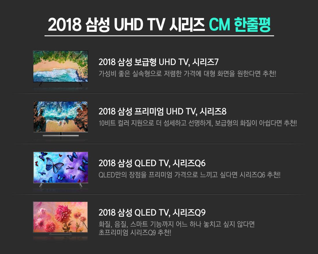 2018 삼성 UHD TV 시리즈 CM 한줄평
