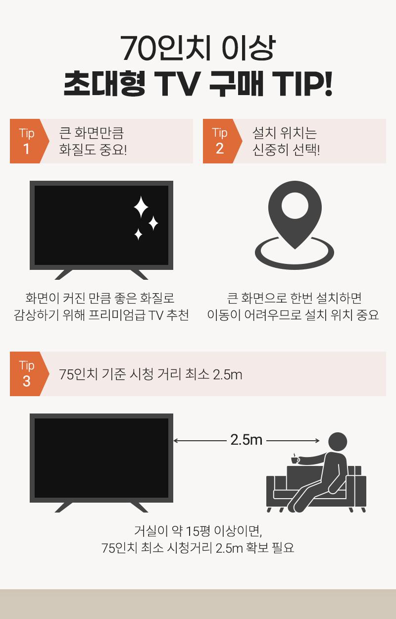 70인치 이상 초대형 TV 구매 TIP!