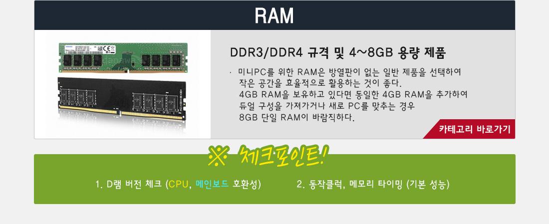 미니pc 구성요소 RAM