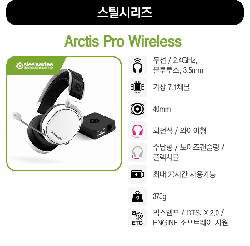 [스틸시리즈] Arctis Pro Wireless