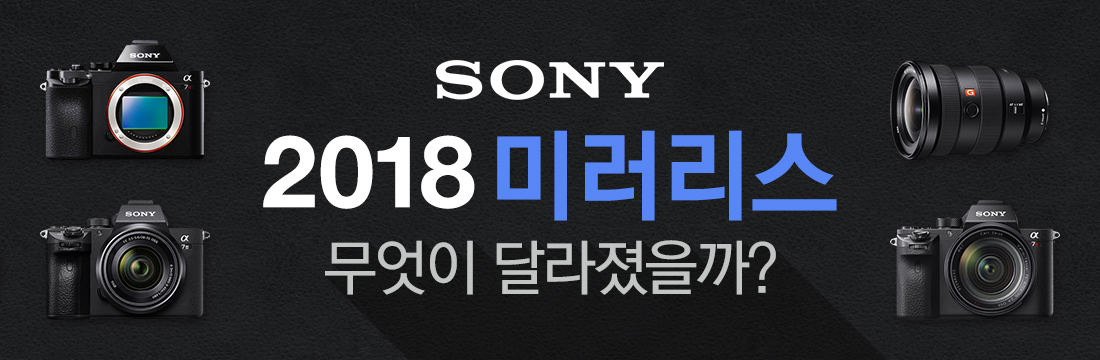 SONY 2018 미러리스 무엇이 달라졌을까?