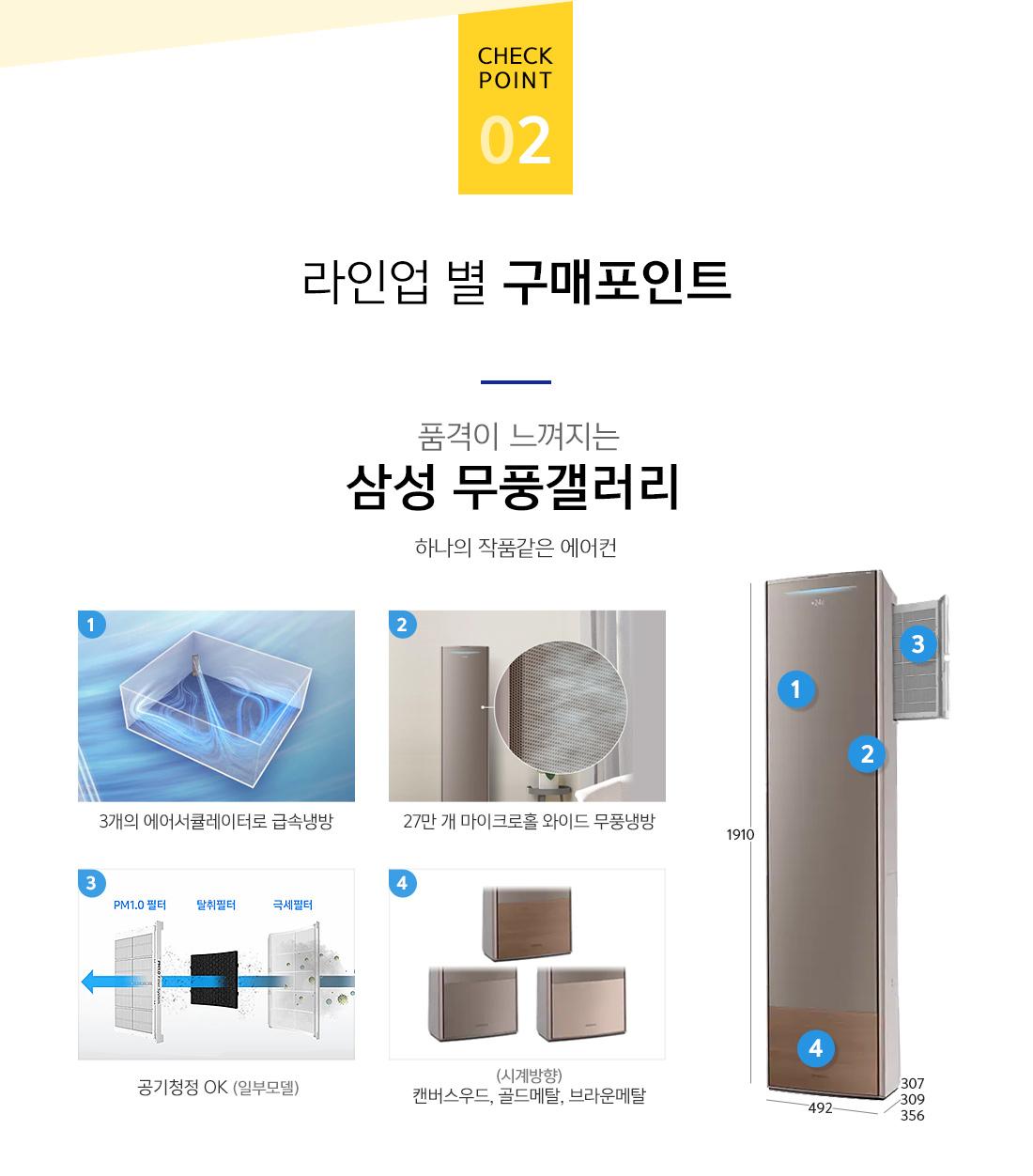 체크포인트2. 라인업 별 구매포인트-19년 무풍 갤러리 최신형