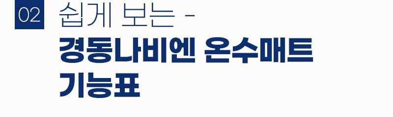 경동나비엔 온수매트 기능표