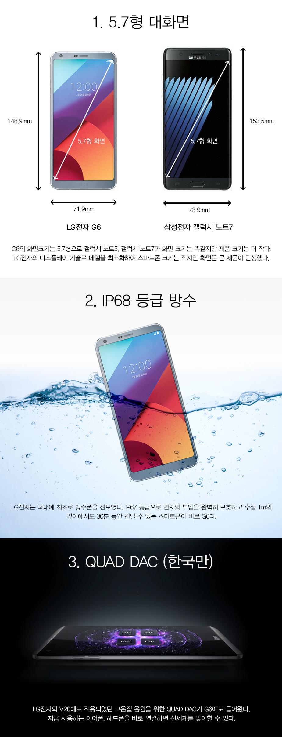 LG G6 특장점