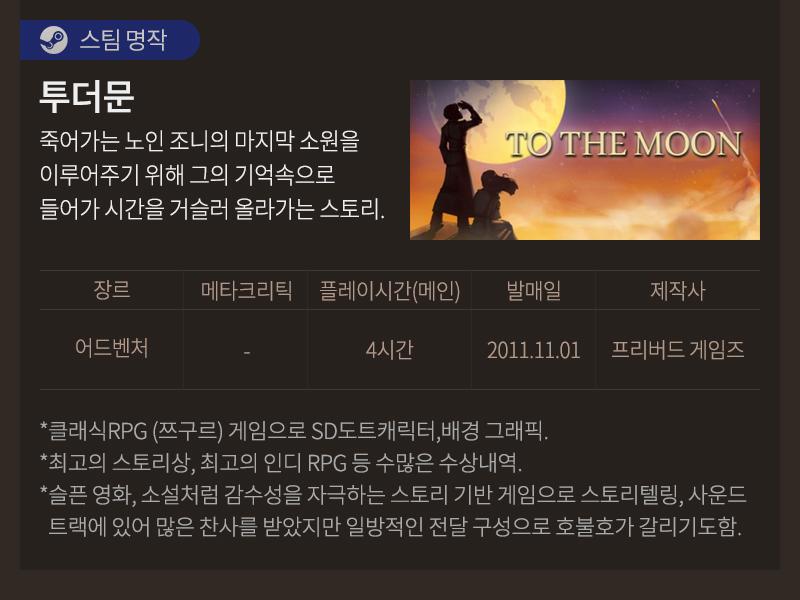 [스팀명작] 투더문