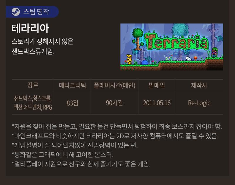 [스팀명작] 테라리아
