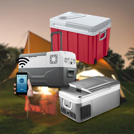 캠핑 여행의 필수품 차량용 냉장고