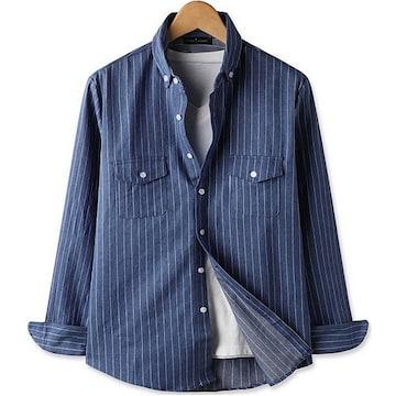 르젠옴므 데님 라인 포켓 셔츠
