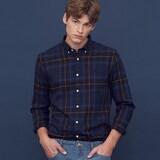 남성 체크 셔츠