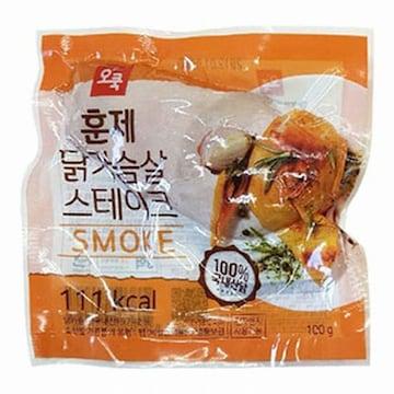오쿡  훈제 닭가슴살 스테이크 100g (1개)