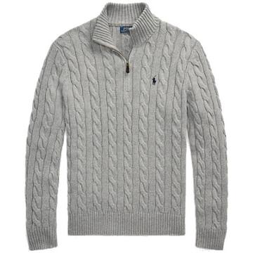 폴로 케이블니트 코튼 스웨터 MNPOSWE16820447020_이미지