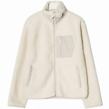 에잇세컨즈 남성 아이보리 덤블 하이넥 집업 재킷