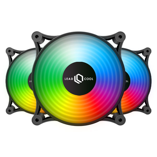 LEADCOOL 120 RGB 레인보우 BLACK (3PACK)