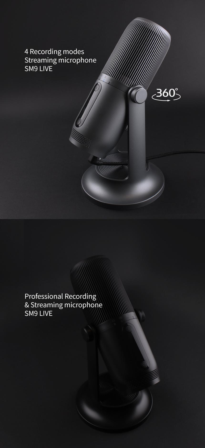 웨이코스 씽크웨이 TONE SM9 LIVE USB 콘덴서 마이크 (그레이)