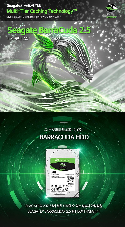 Seagate 4TB BarraCuda ST4000LM024 (SATA3/5400/128M/노트북용)