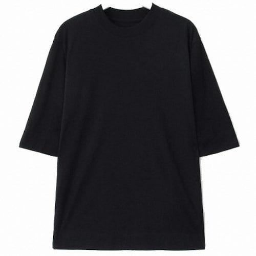 삼성물산 에잇세컨즈 블랙 리브 반소매 티셔츠 328742CYE5_이미지