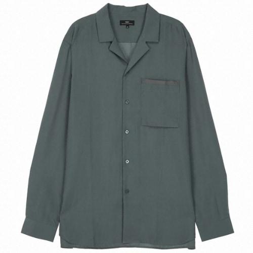 TNGT 남성 단색 캐주얼셔츠 TGSH9B221E1_이미지
