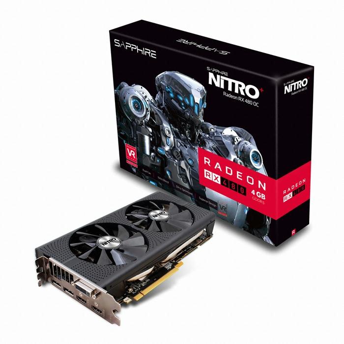 SAPPHIRE 라데온 RX 480 OC D5 4GB Dual-X NITRO+