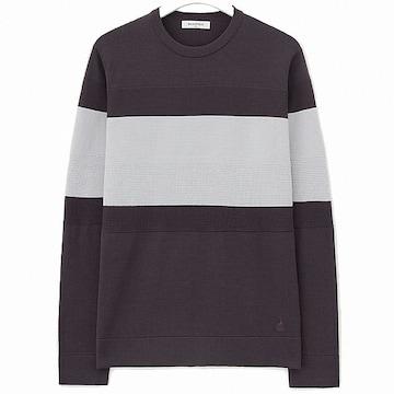 빈폴 와인 볼드 믹스 스웨터